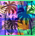 seamless exotic pattern with tropical palm on vector image