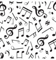 seamless pattern with different music notes vector image