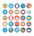 seo and marketing flat circular icons 4 vector image vector image