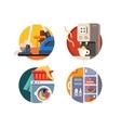 set household appliances vector image