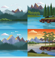 set of nature landscapes vector image vector image