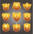 set shields vector image