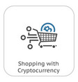 shopping with crybtocurrency icon vector image
