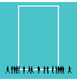 Silhouette people with copy space vector image vector image