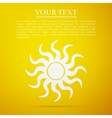 Sun-sign flat icon on yellow background vector image