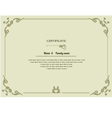 thai elegant art frame certificate design template vector image vector image