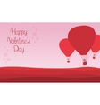 Valentine theme air balloon backgrounds vector image vector image