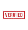 verified rubber stamp isolated seal rubbe vector image