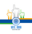 voting and polling indian election campain poster vector image vector image