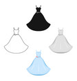 wedding dress icon for web vector image vector image
