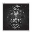 Winter greeting card with text on chalkboard vector image vector image