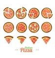 Pizza Food Set vector image