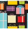 Different Gift Box Seamless Pattern Background vector image
