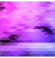 Bright triangles purple and blue colours abstract vector image