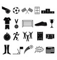 cartoon silhouette black football or soccer game vector image