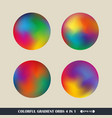 abstract of colorful gradient orbs background vector image vector image