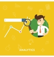 Analysis business results of concept research vector image vector image
