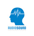 audio sound - logo template concept vector image vector image