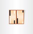 backgammon tournament icon design vector image vector image