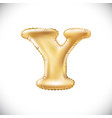 balloon letter y realistic 3d isolated gold vector image