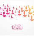 beautiful vibrant diwali greeting card design vector image vector image