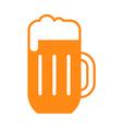 Beer glass symbol vector image