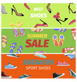 Best summer sale of sneakers sport shoes banners