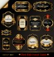 Black and golden labels vector | Price: 1 Credit (USD $1)