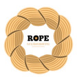 braided twisted rope circle border or frame flat vector image