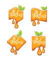 bright lettering sticker emblem and logo vector image