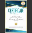 certificate retro design template 02 vector image vector image