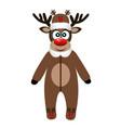 christmas reindeer christmas card funny reindeer vector image vector image