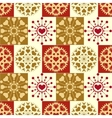 Christmas seamless pattern Vintage snowflakes vector image