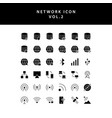 cloud computing network glyph style icon set vol2 vector image