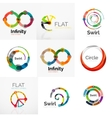 Collection of abstract circle logos vector image