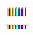 colorful pencils in white cloth pocket vector image vector image