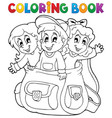 coloring book kids theme 6 vector image vector image