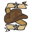 cowboy hat design vector image