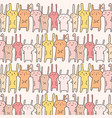 cute bunny pattern background vector image vector image