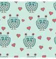 Cute cartoon owls pattern