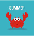cute crab print vector image