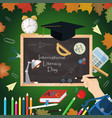 design 7 on school theme international literacy