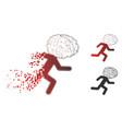 dissolved pixelated halftone brain drain icon vector image vector image