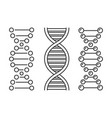 dna icons set on white background vector image vector image