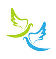 dove of peace icon vector image