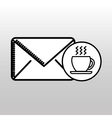 email cup coffee breakfast icon vector image