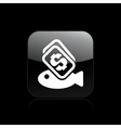fish buy icon vector image vector image