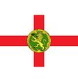 Flag of alderney vector image vector image
