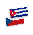 flags czech republic and cuba on a white vector image vector image