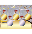 Gold and White Xmas Balls vector image vector image